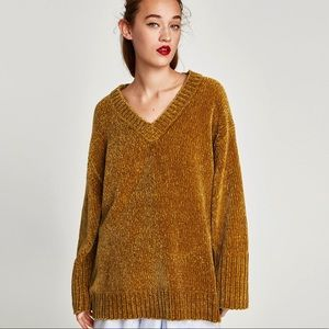 NWT Zara Oversized chenille sweater Size M